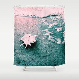 Shell on the beach 02 Shower Curtain