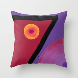 Ruby Seven Throw Pillow
