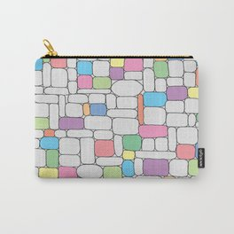 Pastel Stone Wall Carry-All Pouch