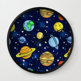 Space and Planets Wall Clock