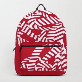Candy cane flower 6 Backpack