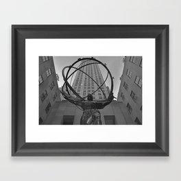 Atlas Statue and Rockefeller Center Framed Art Print
