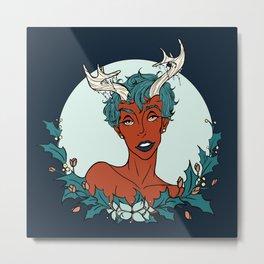 Holly Sprite (Teal/Sienna) Metal Print