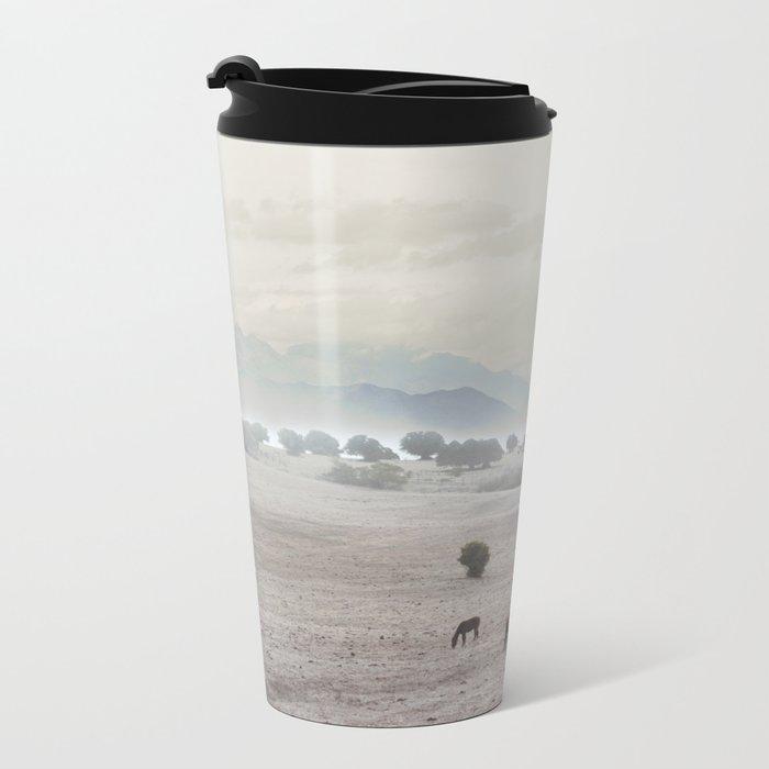 Landscape & Horses II Metal Travel Mug