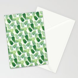 Summer Leaves - White Background Stationery Cards
