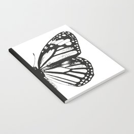 Monarch Butterfly | Right Butterfly Wing | Vintage Butterflies | Black and White | Notebook