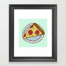 Pizza Experiment Framed Art Print
