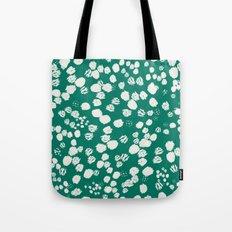 White splashes on green Tote Bag