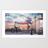 Bicycle Boy 10 Art Print