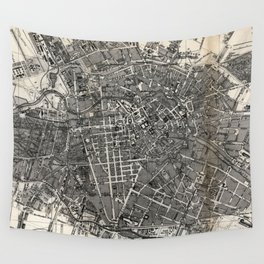 Vintage Map of Berlin Germany (1870) Wall Tapestry