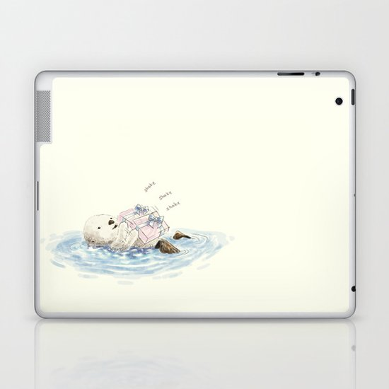 sea otter's birthday Laptop & iPad Skin