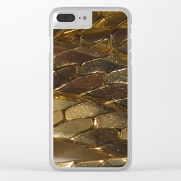 gold? chain Clear iPhone Case
