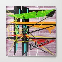 Choas is Abstract Metal Print