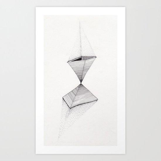 sand pyramids Art Print