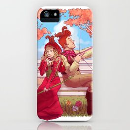 Witch and Wizard of Valentines iPhone Case