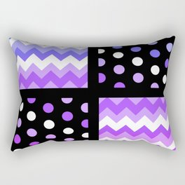Multi-Color Gradient Chervon/Polkdot Pillow 1 Rectangular Pillow