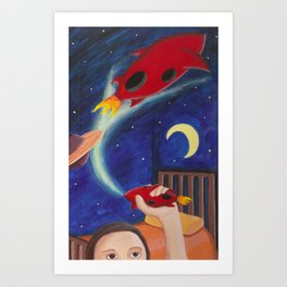 Rockets Art Print