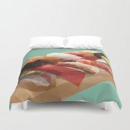 Nigiri Sushi Platter Polygon Art Duvet Cover