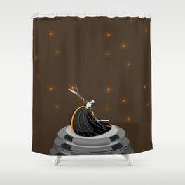 Robot Dancer Shower Curtain