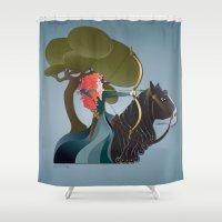 merida Shower Curtains featuring Sagittarius - Princess Merida by AmadeuxArt