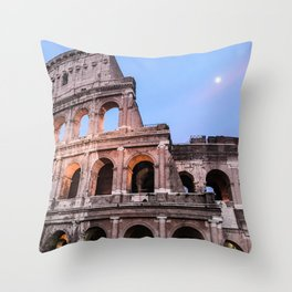 Colosseum at Night Throw Pillow