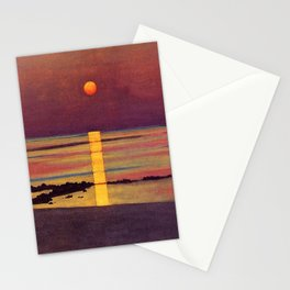 Sunset at the Beach landscape painting by Félix Vallotton Stationery Cards