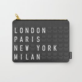 London, Paris, New York, Milan Carry-All Pouch
