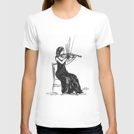 Playing the violin T-shirt
