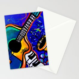 Carnival Jazz Painting Stationery Cards