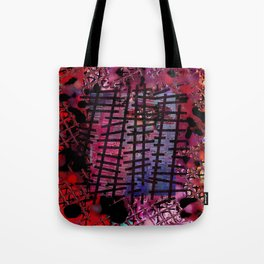 Rails on Red Tote Bag
