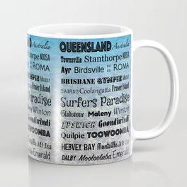 Queensland Poster Coffee Mug