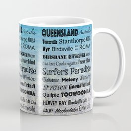 Queensland Poster Coffee Mug