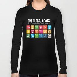 The Global Goals 17 Global Goals Icons Grid  Long Sleeve T-shirt