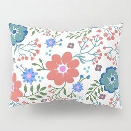 Pretty flowers and flourishes Pillow Sham