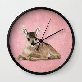 Small fawn Wall Clock