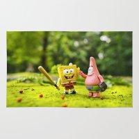 patrick Area & Throw Rugs featuring Spongebob & Patrick by m4Calliope