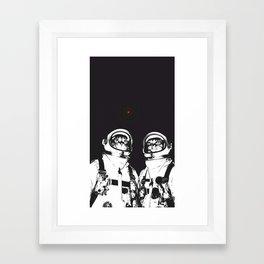 astronaut cats Framed Art Print