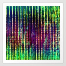 Syntax (Yellow + Green) Art Print