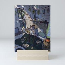 Modern Male Witch Bedroom Mini Art Print
