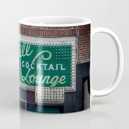 Green Mill Cocktail Lounge Vintage Neon Sign Uptown Chicago Coffee Mug
