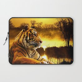 Tiger and Sunset Laptop Sleeve