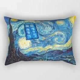 STARRY NIGHT TARDIS Rectangular Pillow
