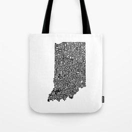 Typographic Indiana Tote Bag