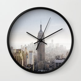 New York City Art Print, Empire State Building Photo, New York City Home Decor, New York City Skyline, New York City Photography, NYC Print Wall Clock