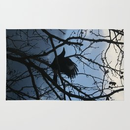 Pied Currawong Silhouette DPG150613 Rug