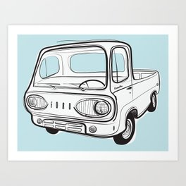 econoline pick-up Art Print