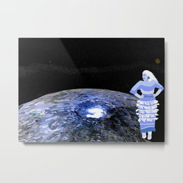 Dancing on the Bright Spot of a Moon Metal Print