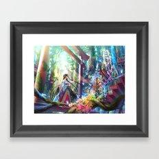 Rainbow Shrine Framed Art Print