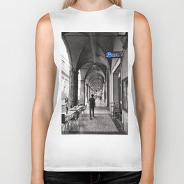 Black and white Bologna Street Photography Biker Tank