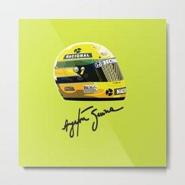 Senna helmet Metal Print